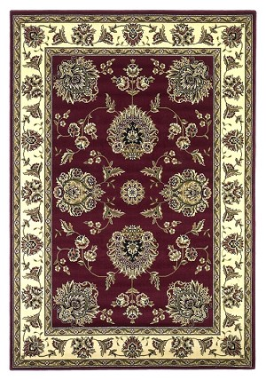 Cambridge Classic 7340 Red/Ivory Floral Mahal Area Rug by KAS