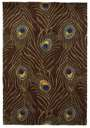 Catalina 748 Mocha Peackock Feathers Area Rug by KAS