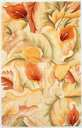 Catalina 758 Ivory Calla Lillies Area Rug by KAS