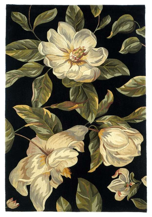 Catalina 761 Black Magnolia Area Rug by KAS