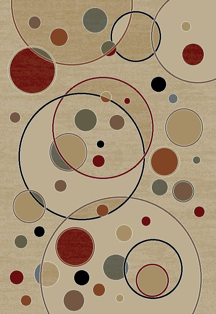 Jewel Modern 4422 Baloons Ivory Area Rug by Concord Global Trading