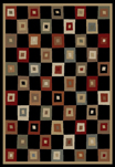 Soho 6013 Black Area Rug - Modern Design