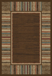 Soho 6128 Brown Area Rug - Modern Design