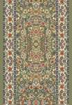 Ancient Garden 57078-4444 Green/Ivory 2'2
