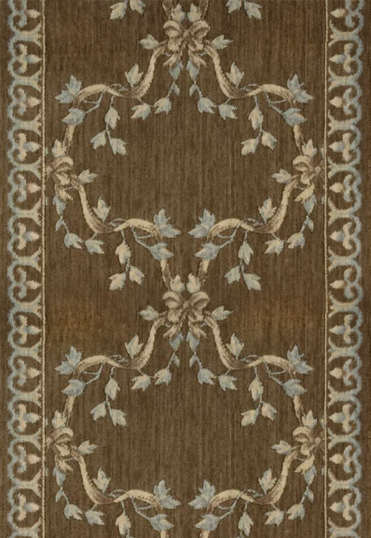 Nourison Ashton House A01r Ribbon Trellis Mink 3 Foot