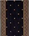 Cosmopolitan C31R R19 Cosmo Square Midnight 3' Foot Wide Hall and Stair Runner