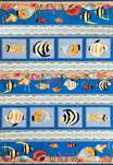 Sonesta Nautical 2004 Blue Sea Views Area Rug by KAS