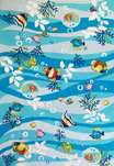 Sonesta Nautical 2011 Blue Tropical Fish Area Rug by KAS