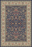 Ancient Garden 57078-3434 Blue/Ivory (34 Navy) Area Rug by Dynamic Rugs