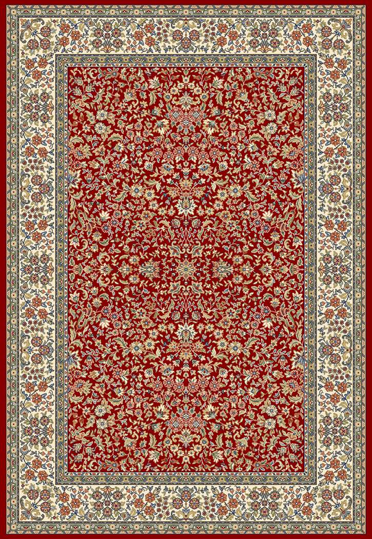 Dynamic Rugs Ancient Garden 57078 1414 Red Ivory 14 Red