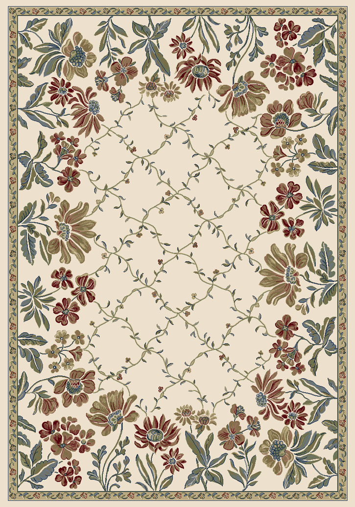 Ancient Garden 57084-6464 Ivory (64 Pearl) Area Rug by Dynamic Rugs
