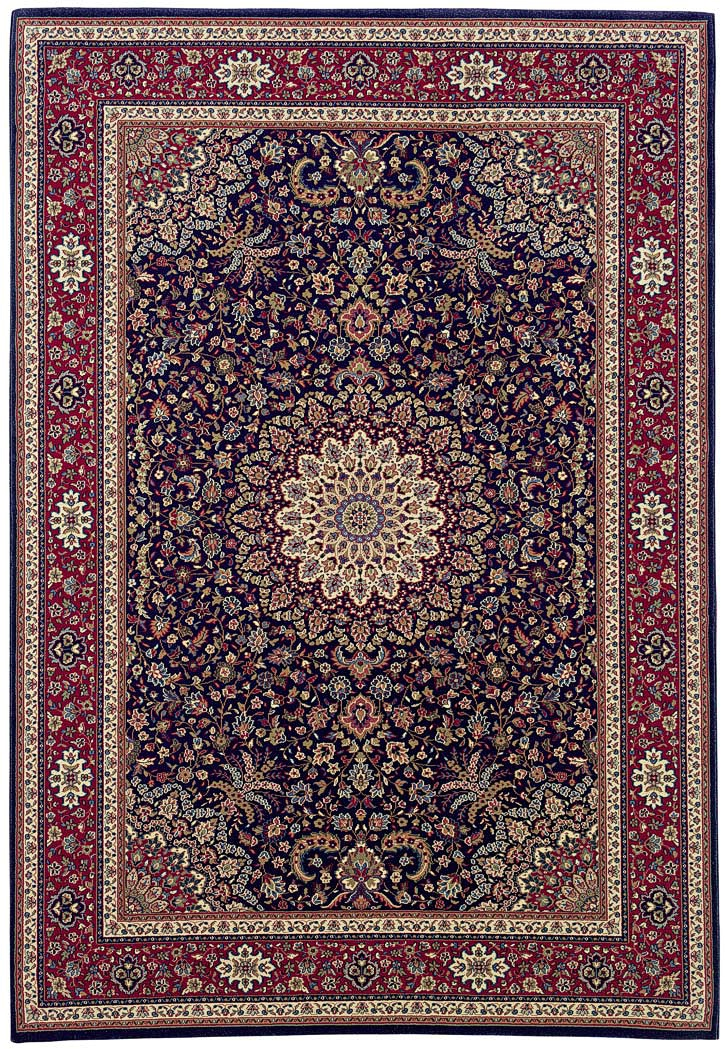 oriental weavers ariana 95b navy traditional area rug. Black Bedroom Furniture Sets. Home Design Ideas