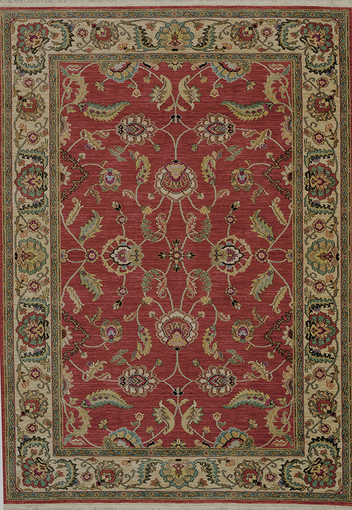Karastan Ashara Agra Red 549 15002 Traditional Area Rug