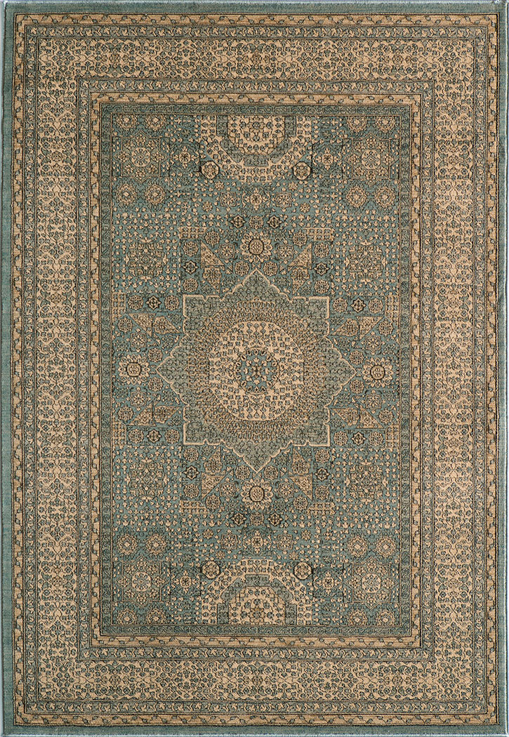 Momeni Belmont Be 03 Light Blue Traditional Area Rug