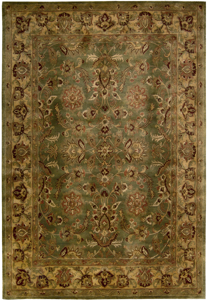 Nourison Jaipur Ja12 Green Traditional Area Rug