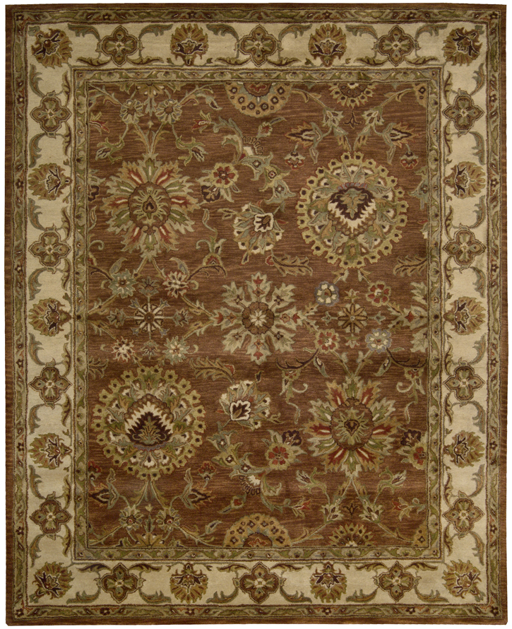 Nourison Jaipur Ja13 Rust Traditional Area Rug