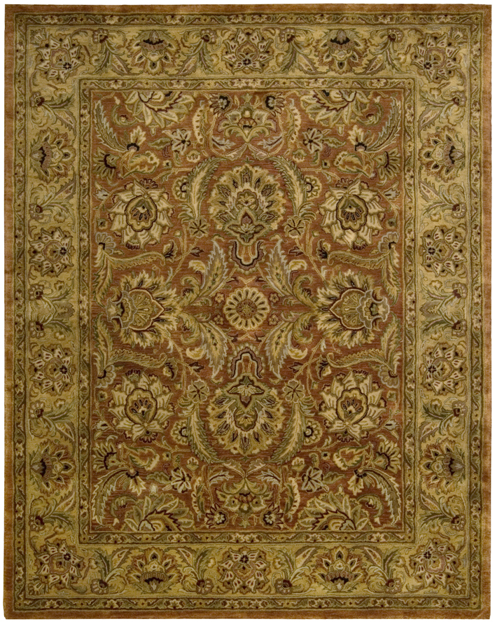 Nourison Jaipur Ja29 Rust Traditional Area Rug