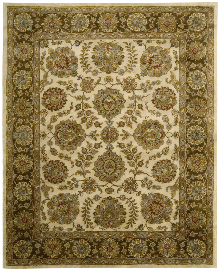 Nourison Jaipur Ja31 Ivory Brown Traditional Area Rug