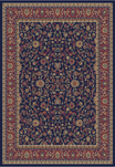 Jewel  4064 Kashan Navy Area Rug by Concord Global Trading