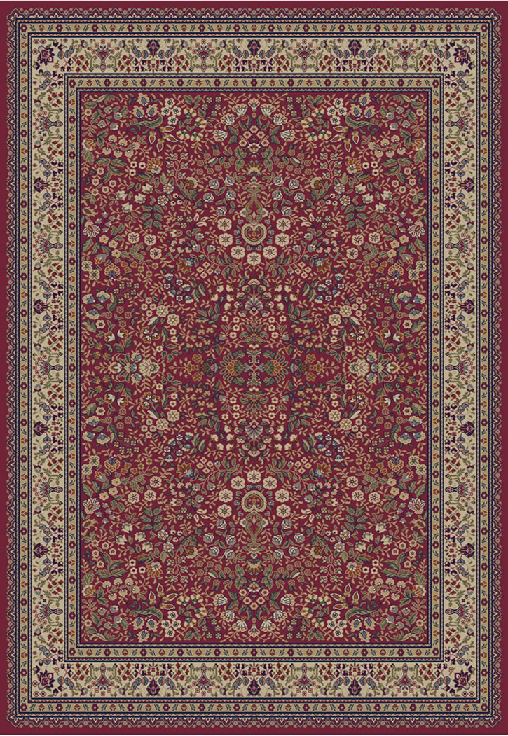 Jewel  4110 Sarouk Red Area Rug by Concord Global Trading