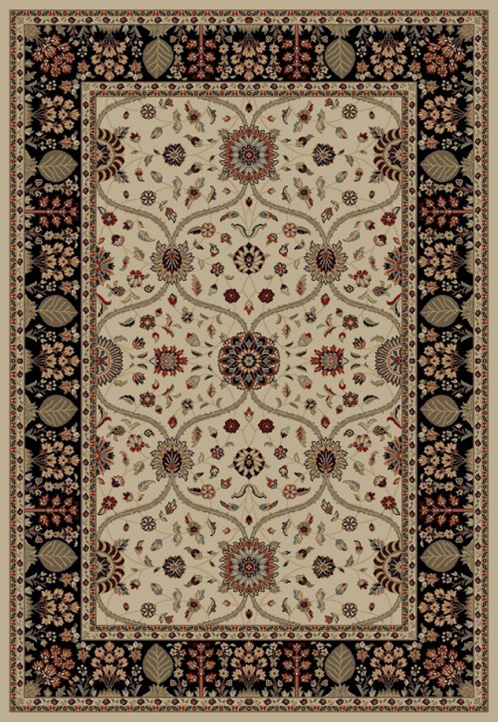 Jewel  4902 Voysey Ivory/Black Area Rug by Concord Global Trading