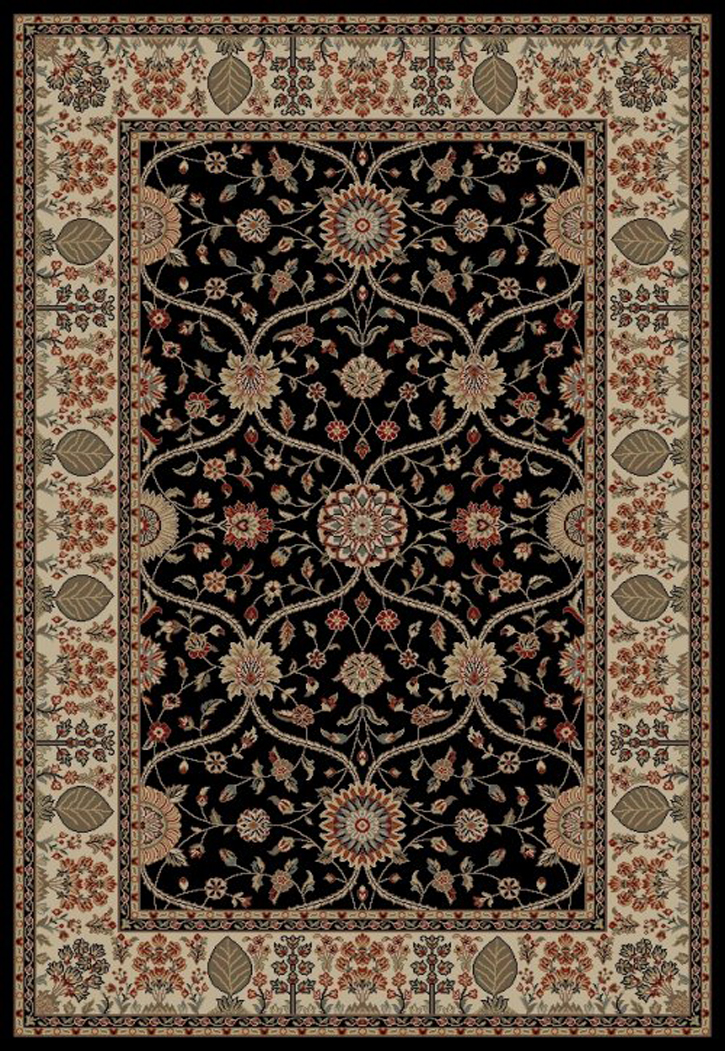 Jewel  4903 Voysey Black Area Rug by Concord Global Trading