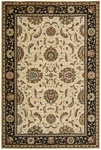 Living Treasures  LI04 Ivory/Black Area Rug by Nourison