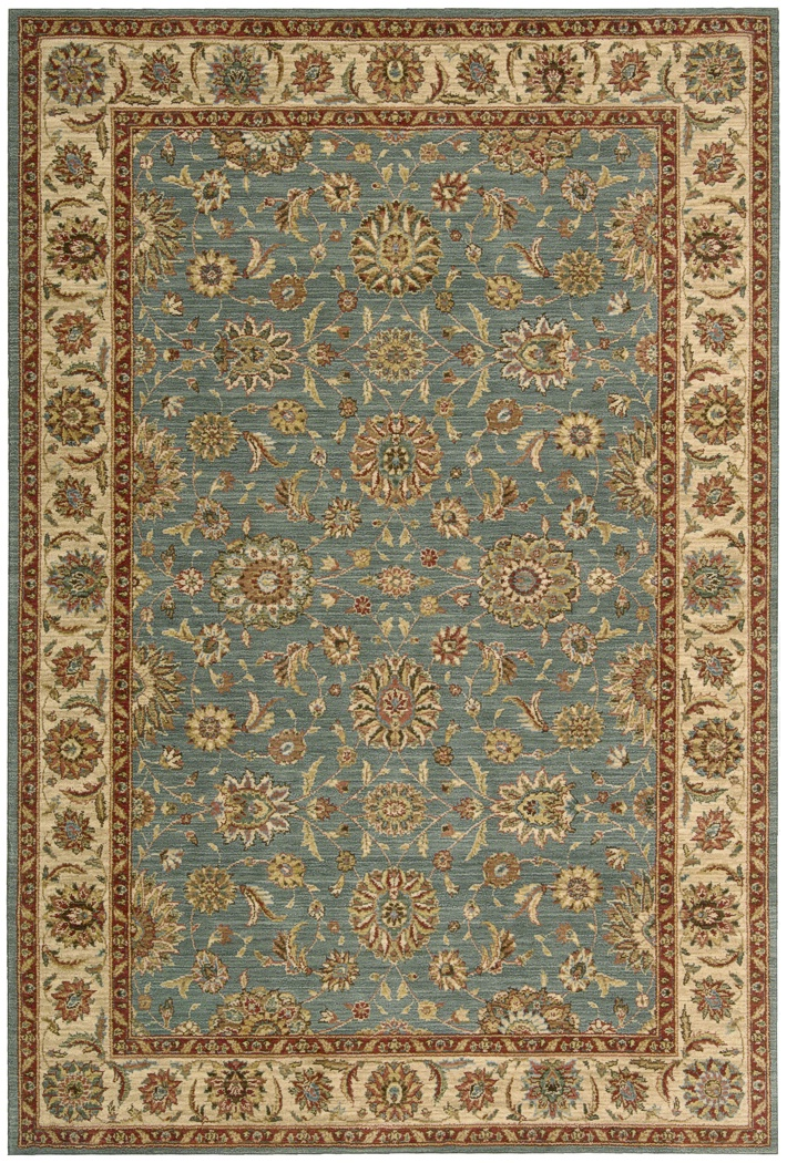 Nourison Living Treasures Li05 Aqua Traditional Area Rug