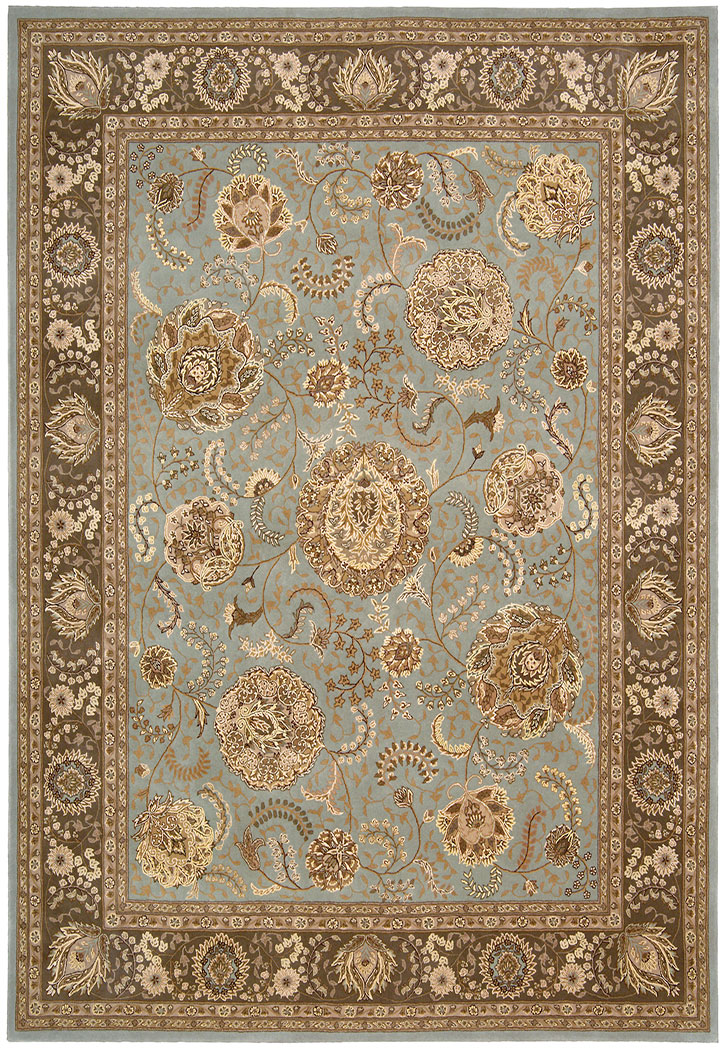 Nourison 2000 2234 Blue Traditional Area Rug Carpetmart