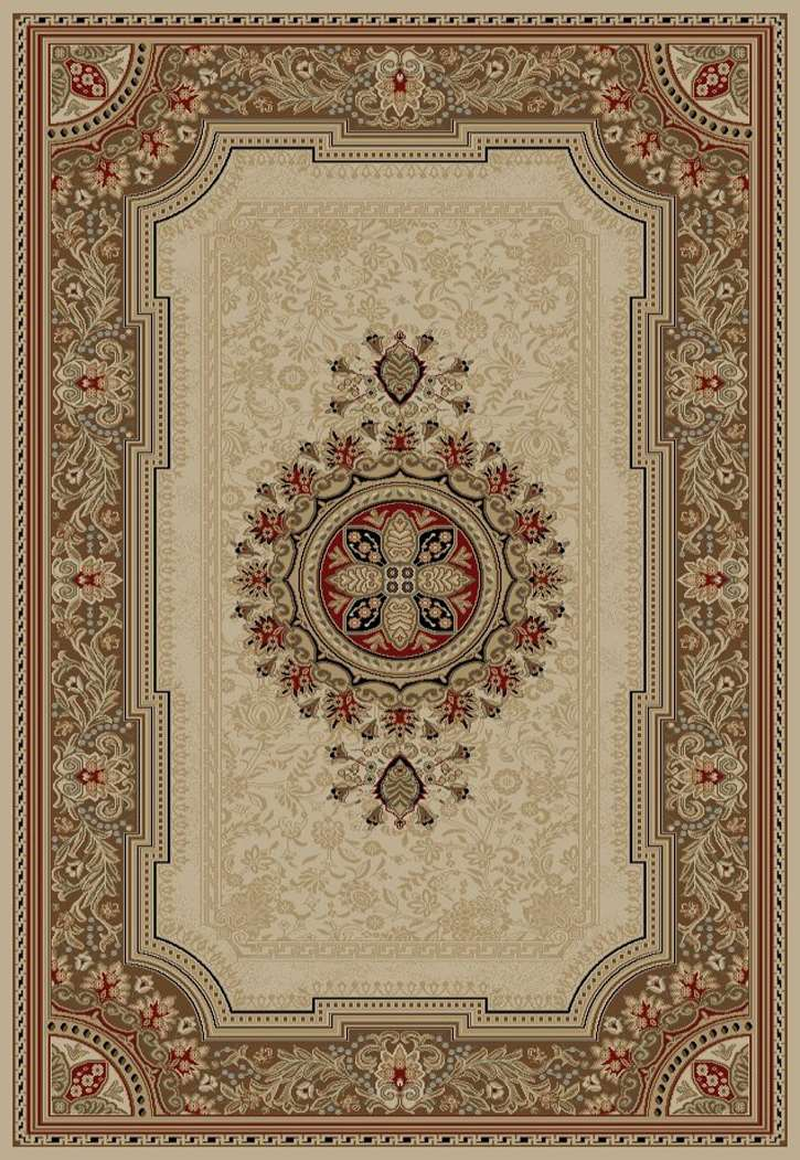 Ankara Classic 6522 Ivory Area Rug by Concord Global Trading