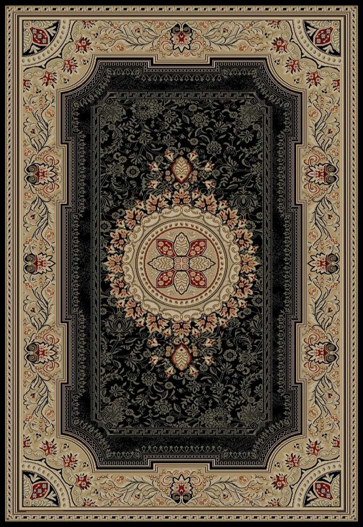 Ankara Classic 6523 Black Area Rug by Concord Global Trading