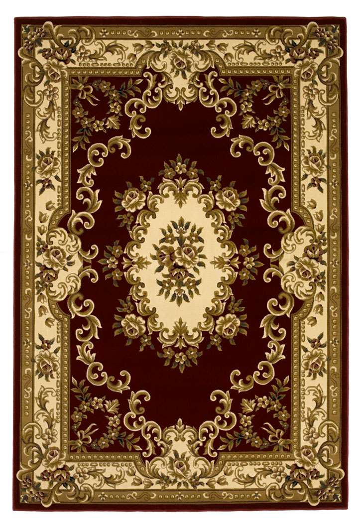 Corinthian 5308 Red/Ivory Aubusson Area Rug by KAS