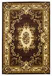 Corinthian 5313 Plum/Ivory Aubusson Area Rug by KAS