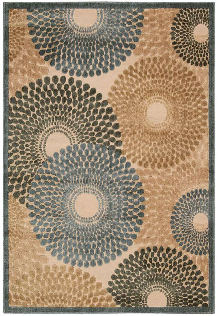 Nourison Graphic Illusions GIL04 Teal Area Rug