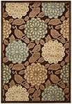 Nourison Graphic Illusions GIL13 Brown Area Rug