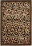 Nourison Graphic Illusions GIL15 Chocolate Area Rug