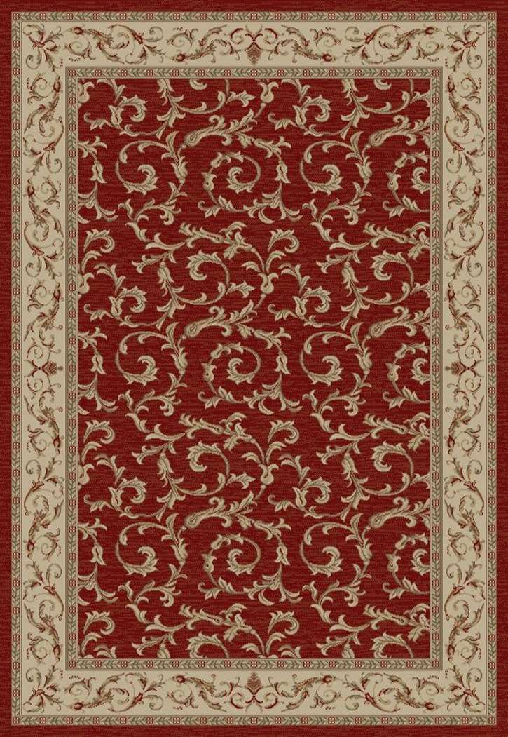 Jewel European 4390 Veronica Red Area Rug by Concord Global Trading