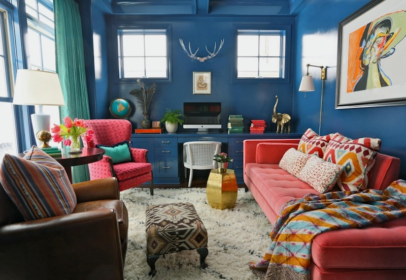Bold Blue Hues In Home Decor