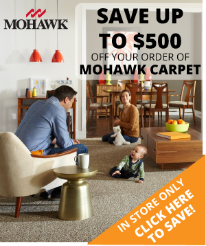 Save up to $500 on your Order of Mohawk Carpet