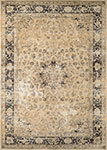Couristan Zahara 0428-0402 Persian Vase Oatmeal/Black Area Rug