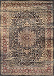 Couristan Zahara 0439-0330 Lotus Medallion Black/Multi Area Rug