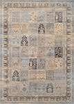 Couristan Zahara 0999-0299 Column Panel Lt. Blue/Black Area Rug