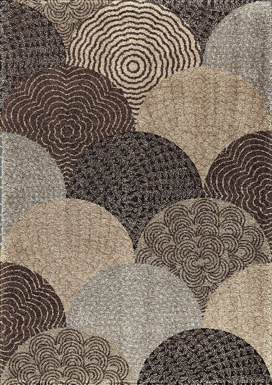 Orian Wild Weave Oystershell Seal Black 1650 Area Rug