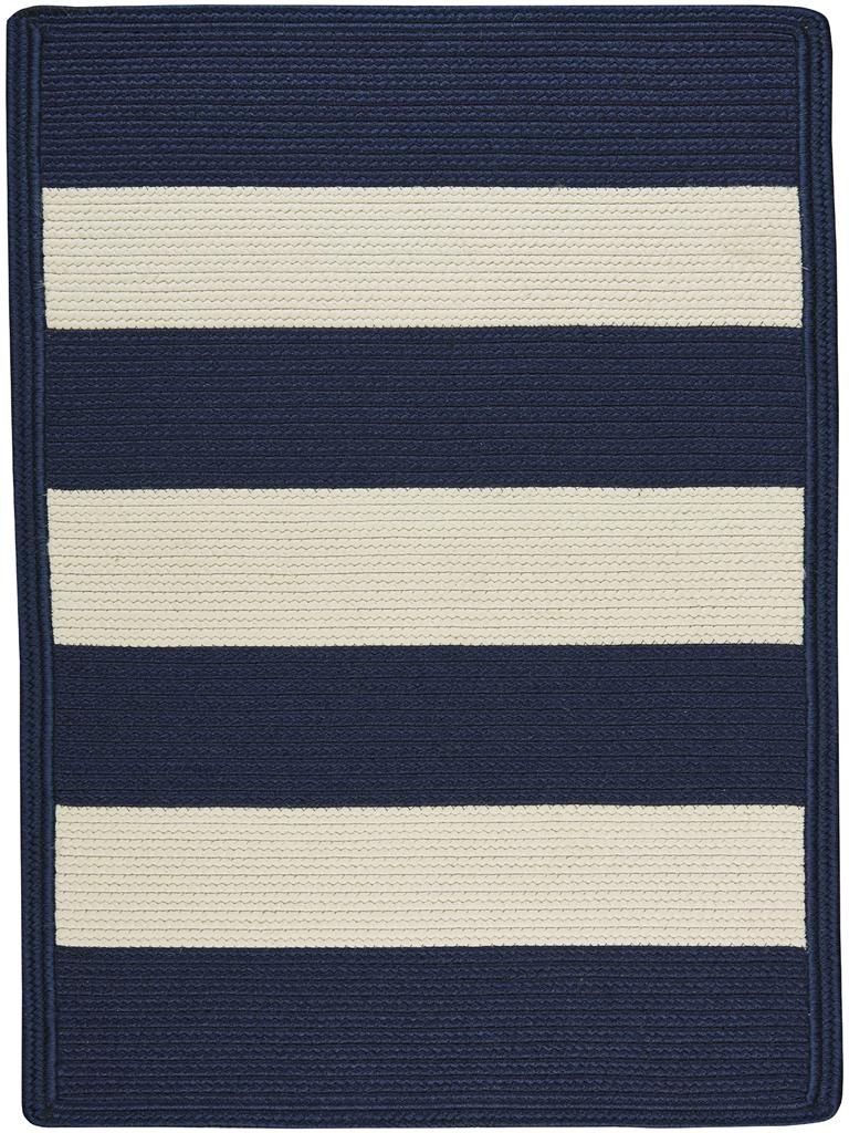 Picture of: Capel Cabana Stripes 0848 425 Navy Blue White Area Rug Carpetmart