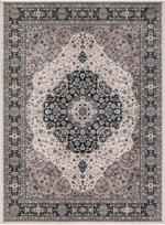Concord Global Trading Kashan 2852 Medallion Ivory Area Rug