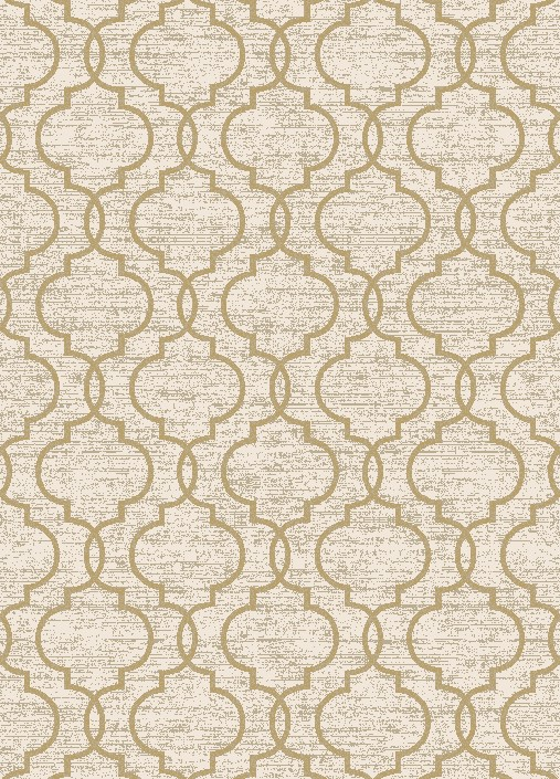 Casa 8821 Quatrefoil IvoryYellow Area Rug by Concord Global