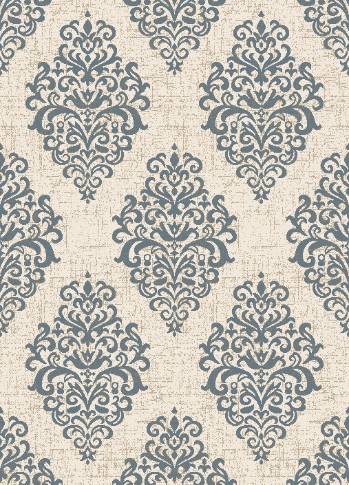 Concord Global Trading Casa 8855 Damask Ivory Blue Area Rug