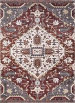 Concord Global Trading Olympus 5200 Medallion Red Area Rug