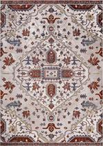Concord Global Trading Olympus 5202 Medallion Ivory/Red Area Rug