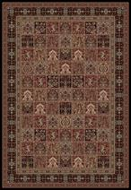 Concord Global Trading Persian Classics 2043 Panel Black Area Rug
